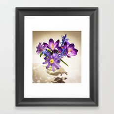 Flowers of love Framed Art Print