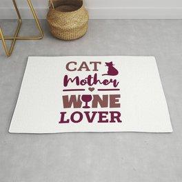 Cat Mother Wine Lover Rug
