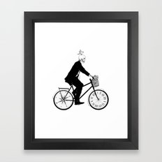 Better Late than Never Framed Art Print