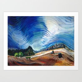 Emily Carr - Above the Gravel Pit - Canada, Canadian Oil Painting - Group of Seven Art Print