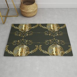 Bitcoin coin golden pattern Rug