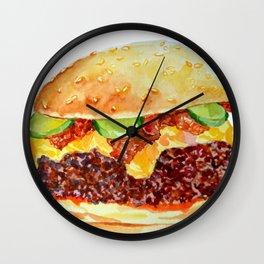 Bacon Double Cheeseburger Wall Clock