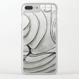 SIN ROSTRO Clear iPhone Case