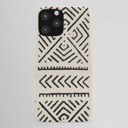 Line Mud Cloth // Bone iPhone Case