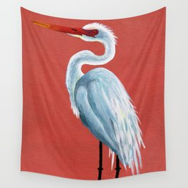 White Heron Wall Tapestry