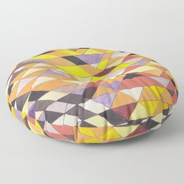 Triangle Pattern No.8 Black and Yellow Floor Pillow