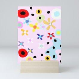 Pink small flowers Mini Art Print