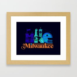 MKE ~ Milwaukee, WI Framed Art Print