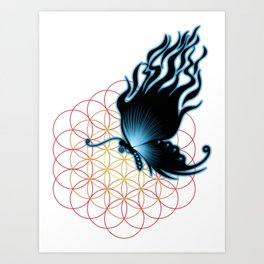 bluefire butterfly Art Print