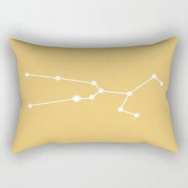 Taurus Zodiac Constellation - Golden Yellow Rectangular Pillow