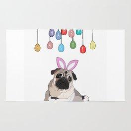 Happy Easter - Pug Rug