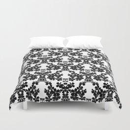 primrose bw pattern Duvet Cover