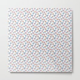 Pattern Project / Mushroom Pattern (White) Metal Print