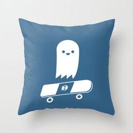 Skate Ghost Throw Pillow