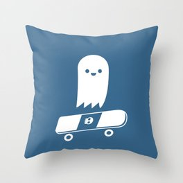 Skate Ghost Throw Pillow