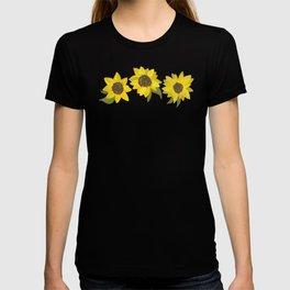 Sunflowers Acrylic on Turquoise T-shirt