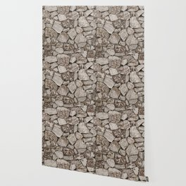 Old Rustic Stone Wall Wallpaper