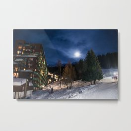 Night in the mountains Metal Print