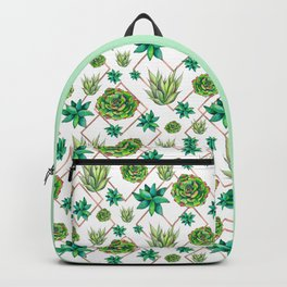 Succulent Trio Pattern Backpack
