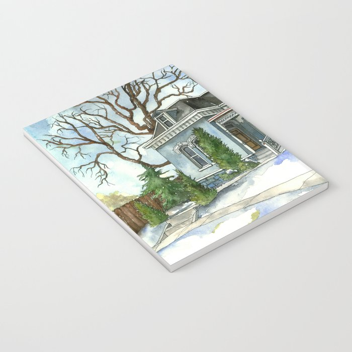 A Cozy Winter Cottage Notebook