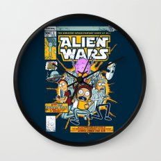 Alien Wars Wall Clock