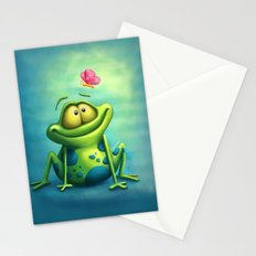 The frog Stationery Cards