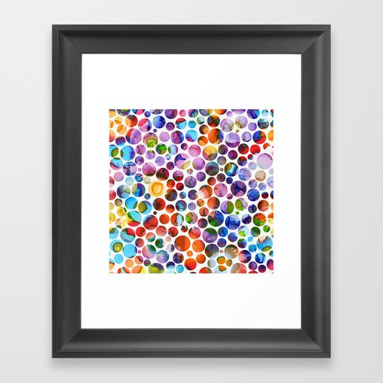 Dots on Painted Background 5 by klaraacel