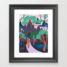Angkor Wat Temples, Cambodia Framed Art Print