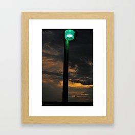Pier Light Framed Art Print
