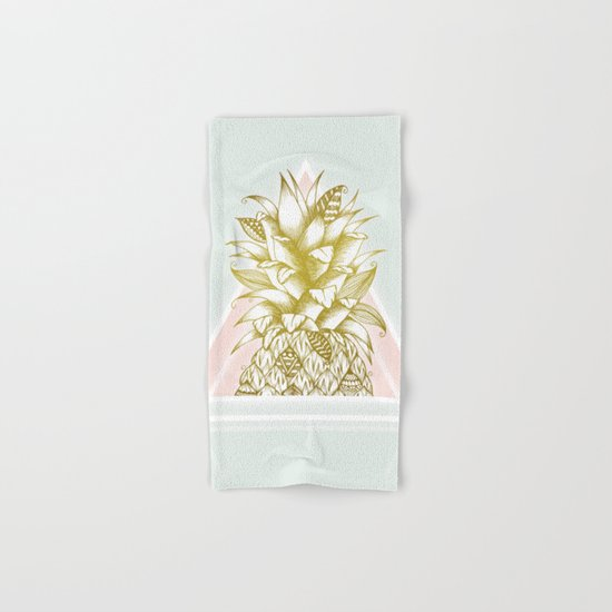 Golden Pineapple Hand & Bath Towel