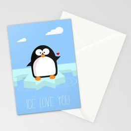 Ice love you Stationery Cards