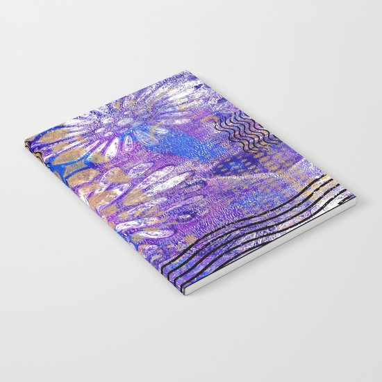 Pattern in Purples and Blues Notebook