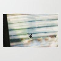 spider Area & Throw Rugs featuring SPIDER by sincerelykarissa