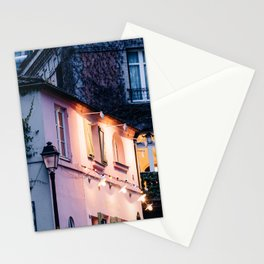 Montmartre at Night in Paris, France Stationery Cards