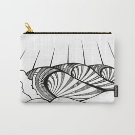 Patterned Waves Carry-All Pouch