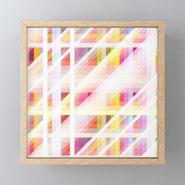 colorful threedimensional retro redcap Framed Mini Art Print