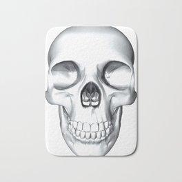illustration of a human skull Bath Mat