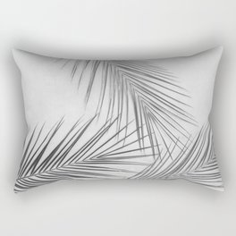 Tropical Palm Leafs (Black and White) Rectangular Pillow