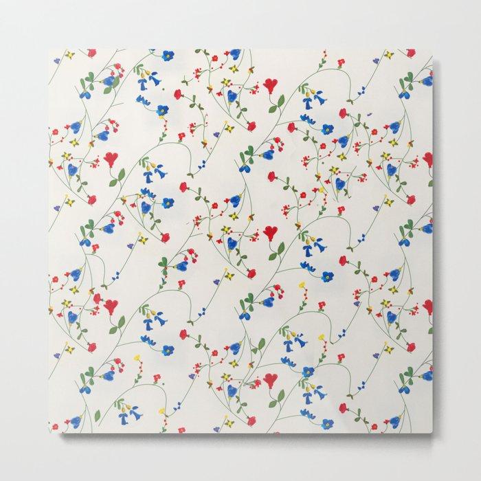 Bright Flower Pattern Metal Print