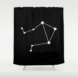 Libra Star Sign Night Sky Shower Curtain