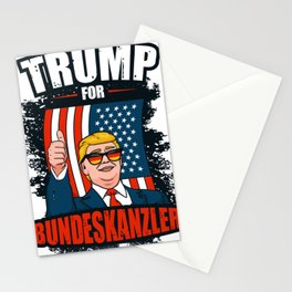 Trump for Federal Chancellor Lustig Politics Stationery Cards