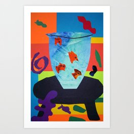 Henri Matisse - Gold Fish still life portrait from the Cut-Outs Collection Art Print