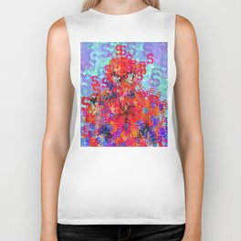 Spider Type Man - Abstract Pop Art Comic Biker Tank