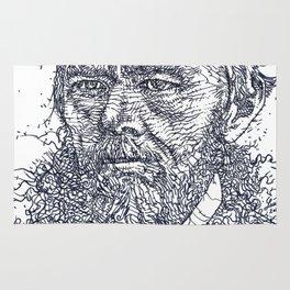 FYODOR DOSTOYEVSKY - ink portrait Rug