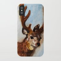 reindeer iPhone & iPod Cases featuring Reindeer  by Woolpecula