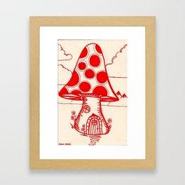 mushroom house Framed Art Print