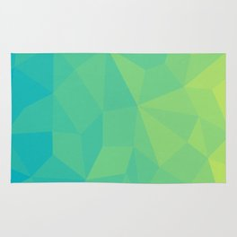 Abstract Geometric Gradient Pattern between Soft Green and Strong Cyan Rug