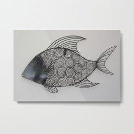 Black Fish Metal Print