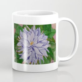 Purple and gold dahlia. Coffee Mug