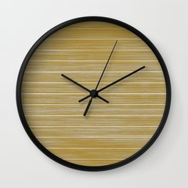 Fall Colors Trends Spicy Mustard Yellow Beach Hut Cladding Wall Clock